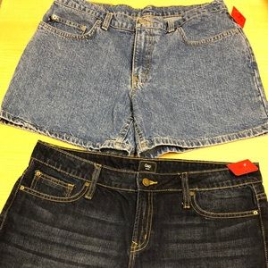 Polo and gap Two Woman Jeans shorts blue size 12